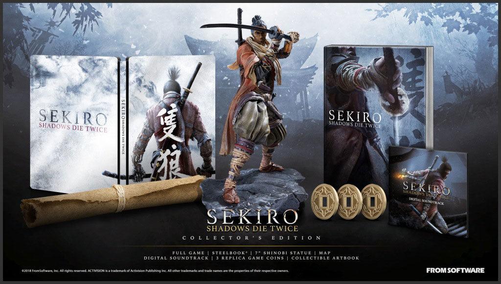 「SEKIRO: SHADOWS DIE TWICE Collector's Edition」內容物