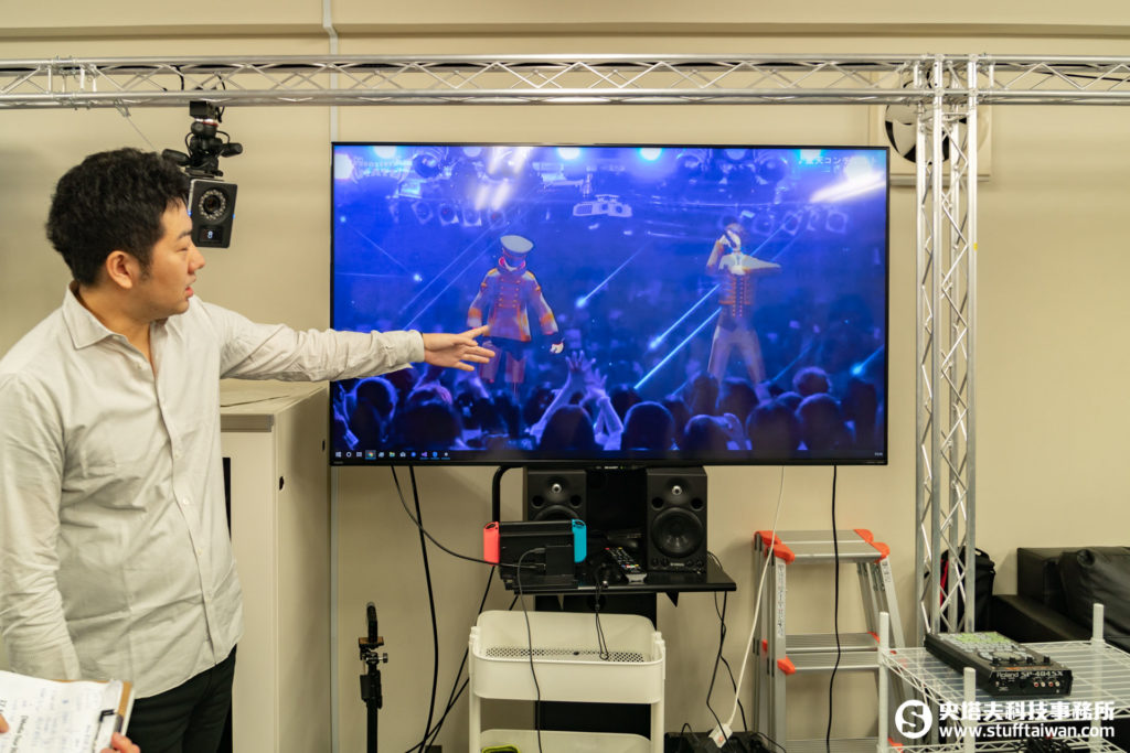 Balus株式會社社長林範和展示之前辦過的虛擬偶像演唱會