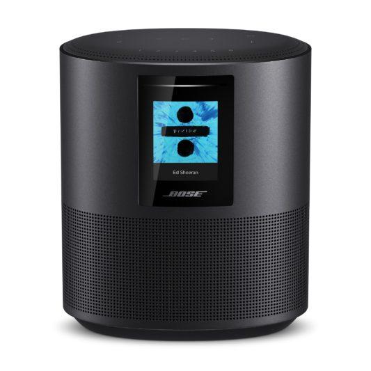 Home Speaker 500智慧型揚聲器,高20公分、寬15公分、深10公分,呈現超越體積的澎湃音色