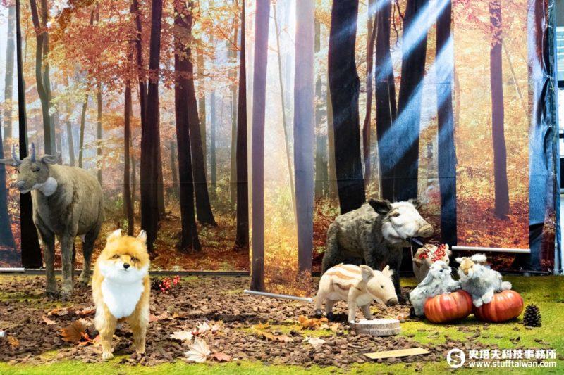「擬真動物HANSA POP-UP STORE快閃店」中的自然森林造景