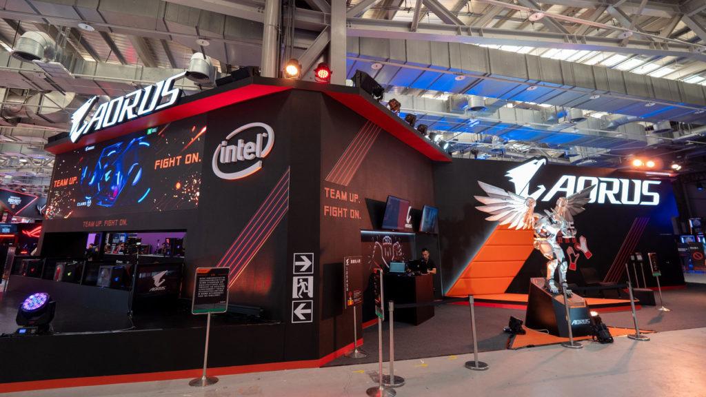 WirForce 2018技嘉科技AORUS攤位