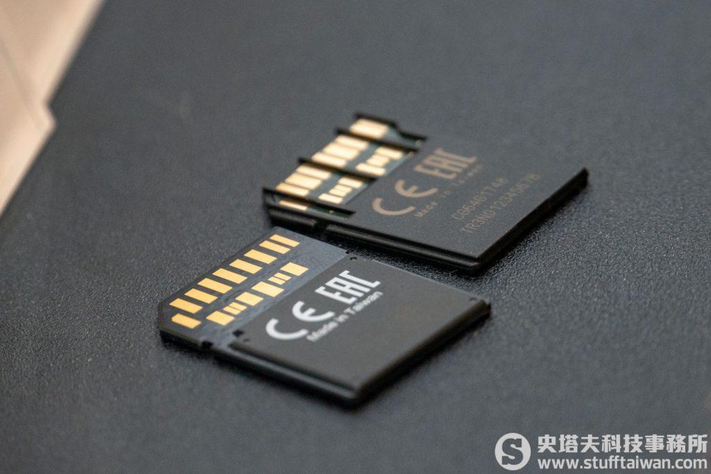 有加強肋與沒有的差別,下方為Sony SF-G Tough USH-II SD記憶卡