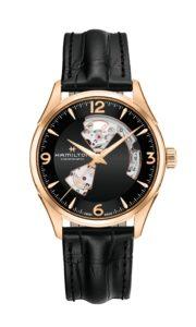 爵士動芯系列黑面PVD玫瑰金款單錶圖