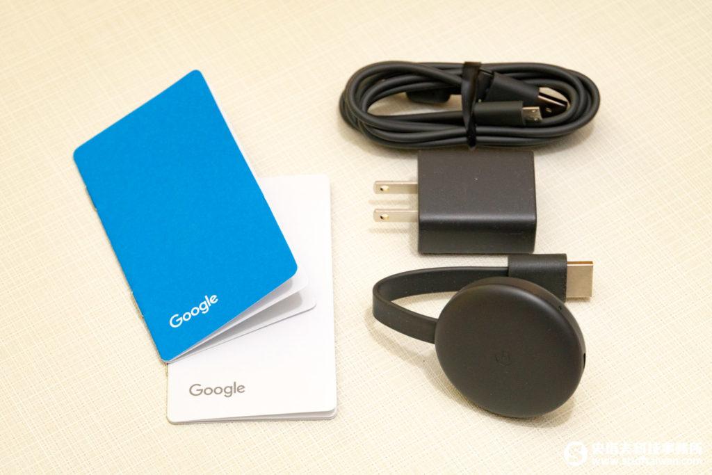 第三代Chromecast包裝內容物