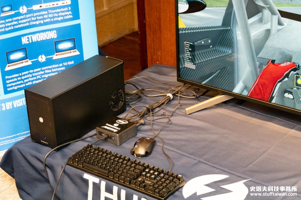 Thunderbolt 3外接顯卡盒示範