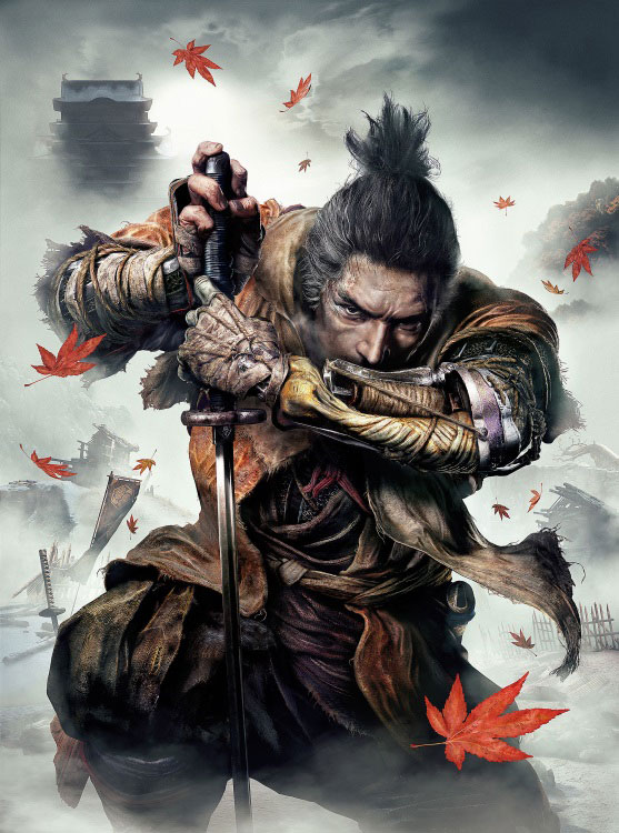 《SEKIRO: SHADOWS DIE TWICE》遊戲包裝封面