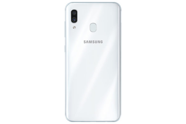 Galaxy A30炫光白_背面