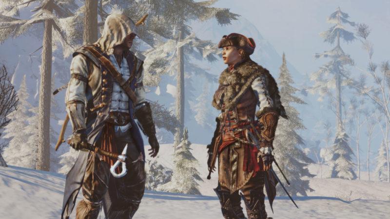 《刺客教條 3 重製版》主角康納(左),《刺客教條:自由使命 重製版》主角艾芙琳(右)