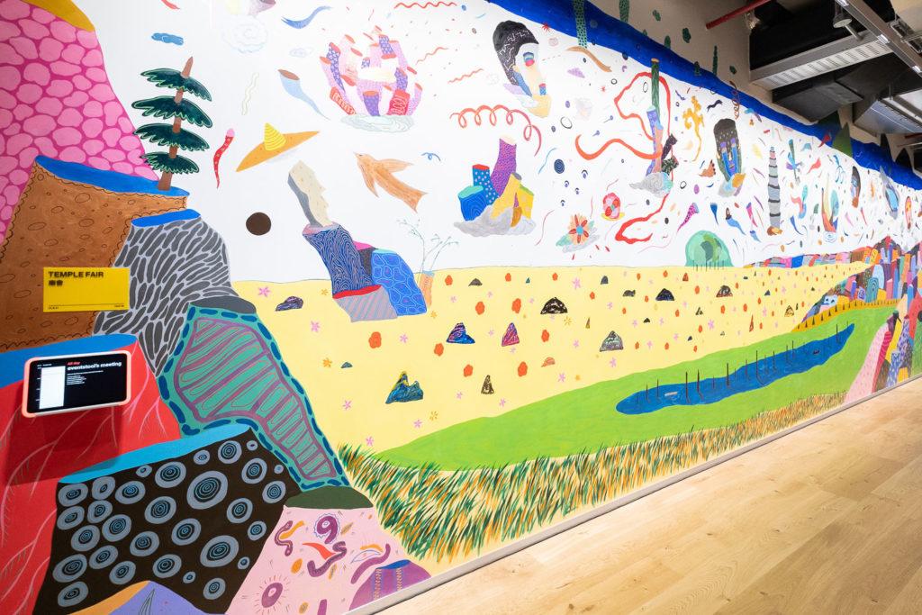 盧俊翰創作的藝術牆