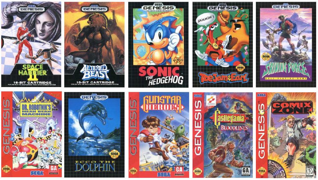 「SEGA Genesis Mini」收錄遊戲封面