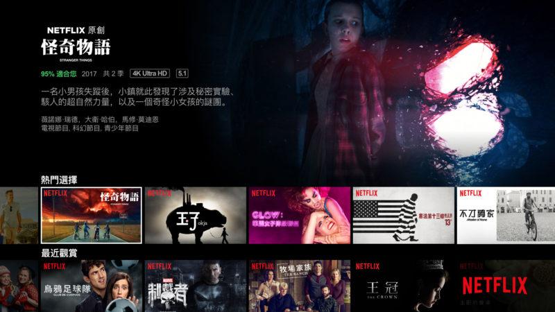 Netflix電視版畫面