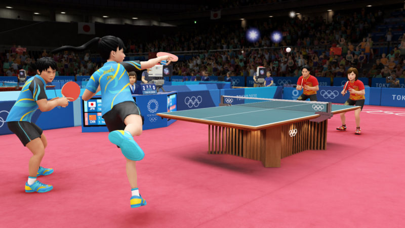 《2020東京奧運 THE OFFICIAL VIDEO GAME》桌球比賽畫面