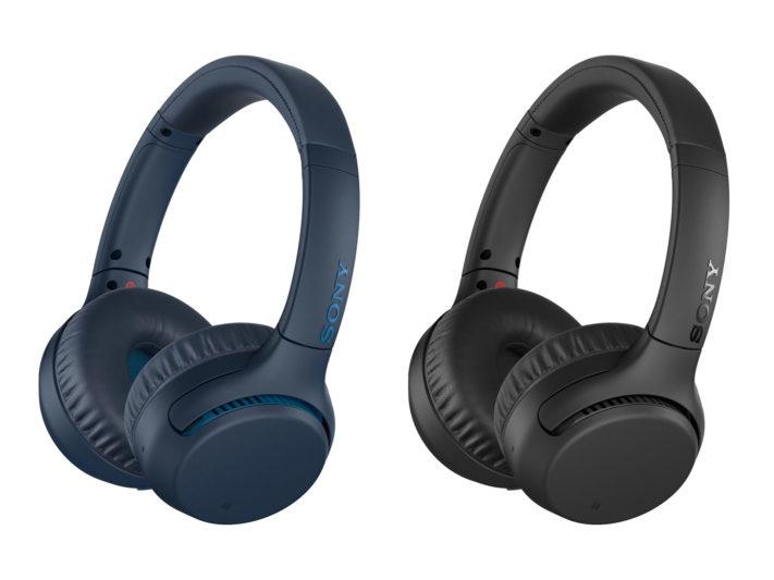 Sony無線藍牙耳罩式耳機WH-XB700共有黑藍兩色
