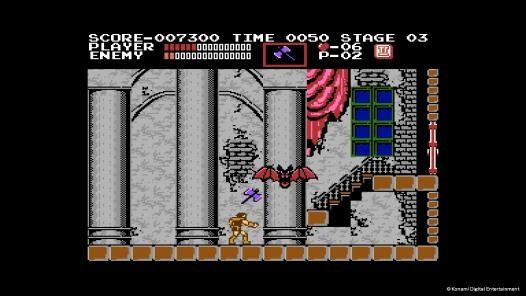 《悪魔城ドラキュラ(Castlevania)》遊戲畫面
