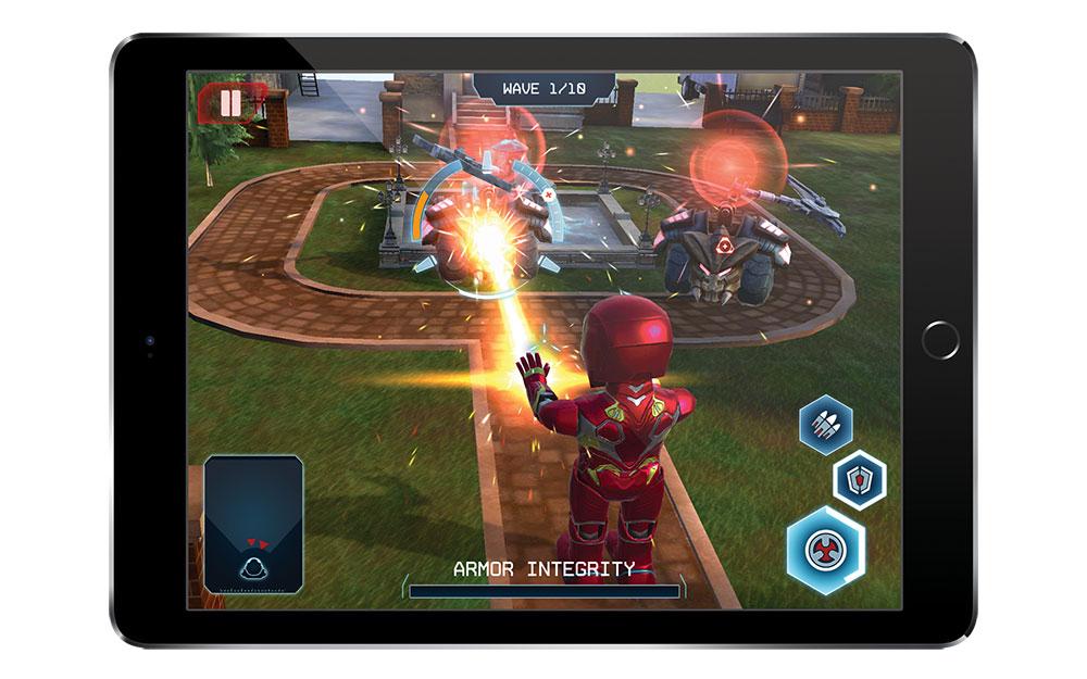 鋼鐵人MARK50機器人AR遊戲畫面