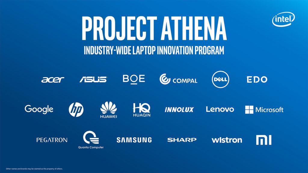 參與Project Athena的筆電品牌