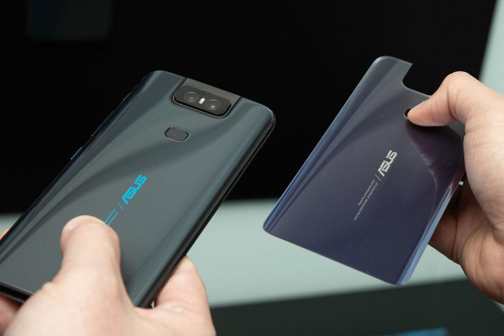 ZenFone 6星夜黑、霓幻銀背蓋
