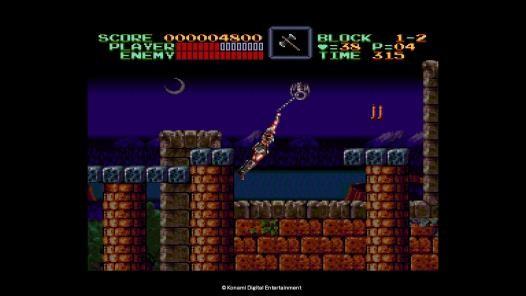 《悪魔城ドラキュラ(Super Castlevania Ⅳ)》遊戲畫面