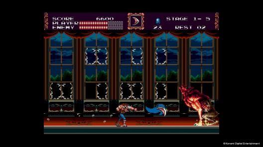 《VAMPIRE KILLER(Castlevania: Bloodlines)》遊戲畫面