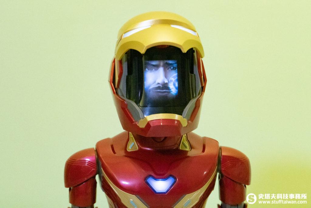 鋼鐵人MARK50機器人面罩打開