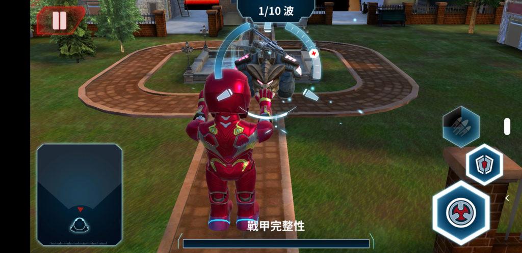 「鋼鐵人MARK50機器人」App畫面