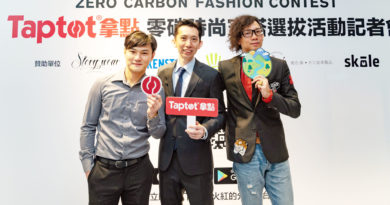 左起Taptot拿點技術總監陳昱嘉、執行長林首龍、設計/行銷總監羅傑