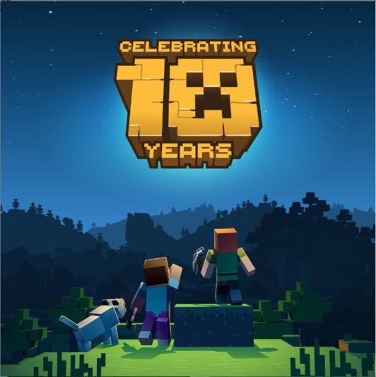 Minecraft《我的世界》十週年慶主視覺