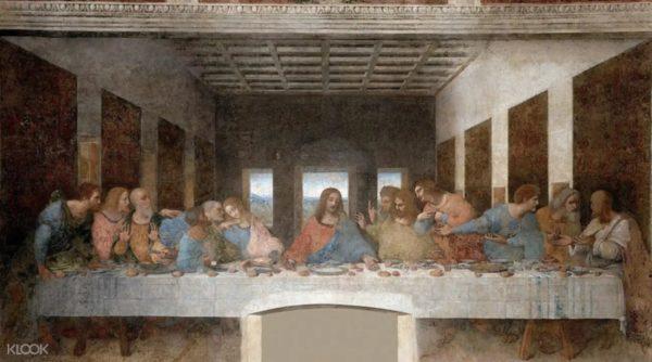 (圖2)在米蘭的聖瑪利亞德爾格契修道院,親眼見識達文西最著名的名畫《最後的晚餐》
