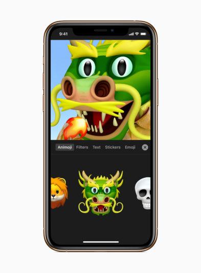 Apple_Clips-features-Memoji-Animoji-dragon-animoji_120519
