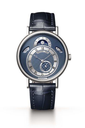 寶璣CLASSIQUE經典系列7337白K金月相腕錶