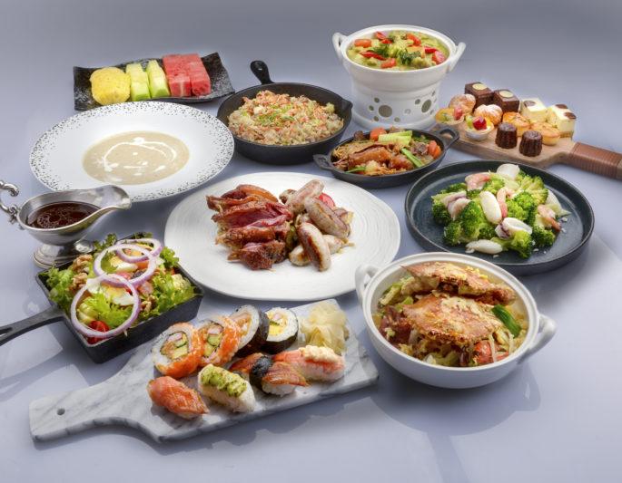 (圖4)高雄《漢來海港自助餐廳漢來店》推出外帶專屬「4人澎派餐」,多達11道的豐富菜色,透過KLOOK預訂只要1,500元
